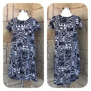 LuLaRoe Ethnic Short Sleeve Carly Swing Dress XXS